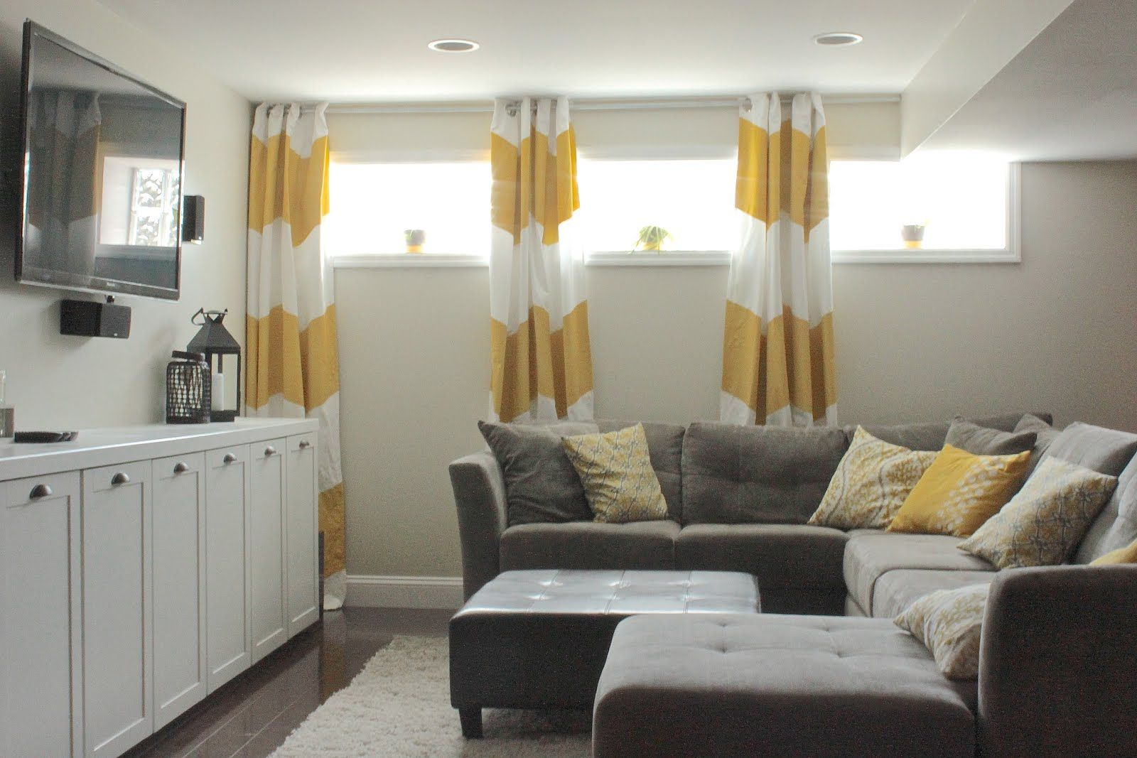Curtains Even On Small Basement Windows For The Home