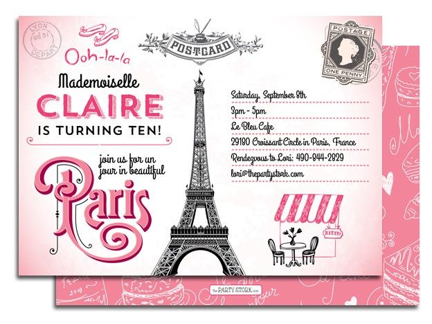 printable paris birthday party invitation baby girl birthday in 2019 birthday party. Black Bedroom Furniture Sets. Home Design Ideas