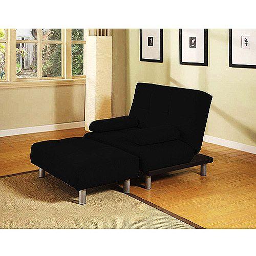 atherton home manhattan convertible chair and ottoman black  furniture   walmart   atherton home manhattan convertible chair and ottoman black      rh   pinterest