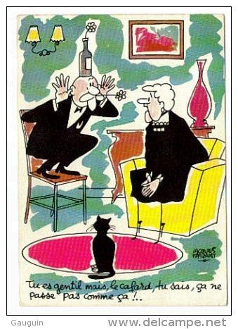 Cpm Illustration Jacques Faizant Les Vieilles Dames Edition