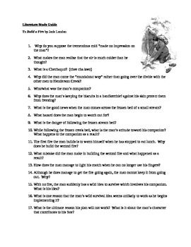 To Build A Fire By Jack London Study Guide Study Guide To Build A Fire Character Motivation