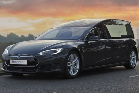 Custom Tesla Model S hearse introduced in the Netherlands #electriccars #EV #EVs #green #cars #Deals #cleanair #ElectricCar