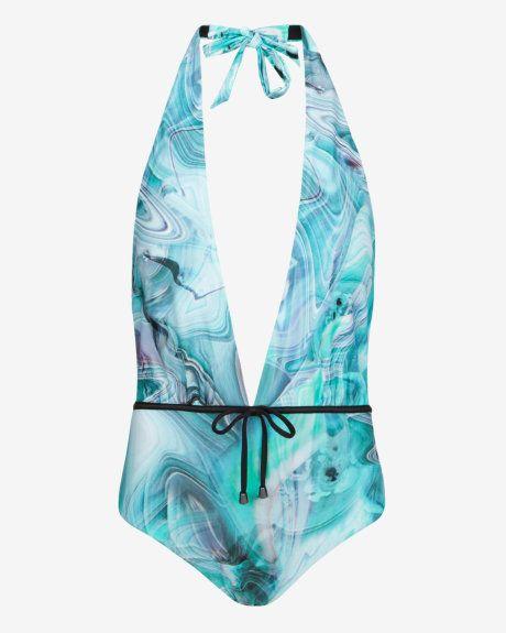 dbfa12e21b Textured Marble swimsuit - Light Gray