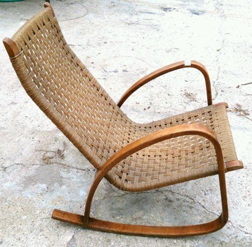 Eccezionale poltrona a dondolo sedia con braccioli anni for Sedia a dondolo nursery