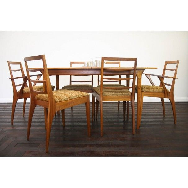 Classic British Vintage Dining Table And Chairs From Mcintosh Of