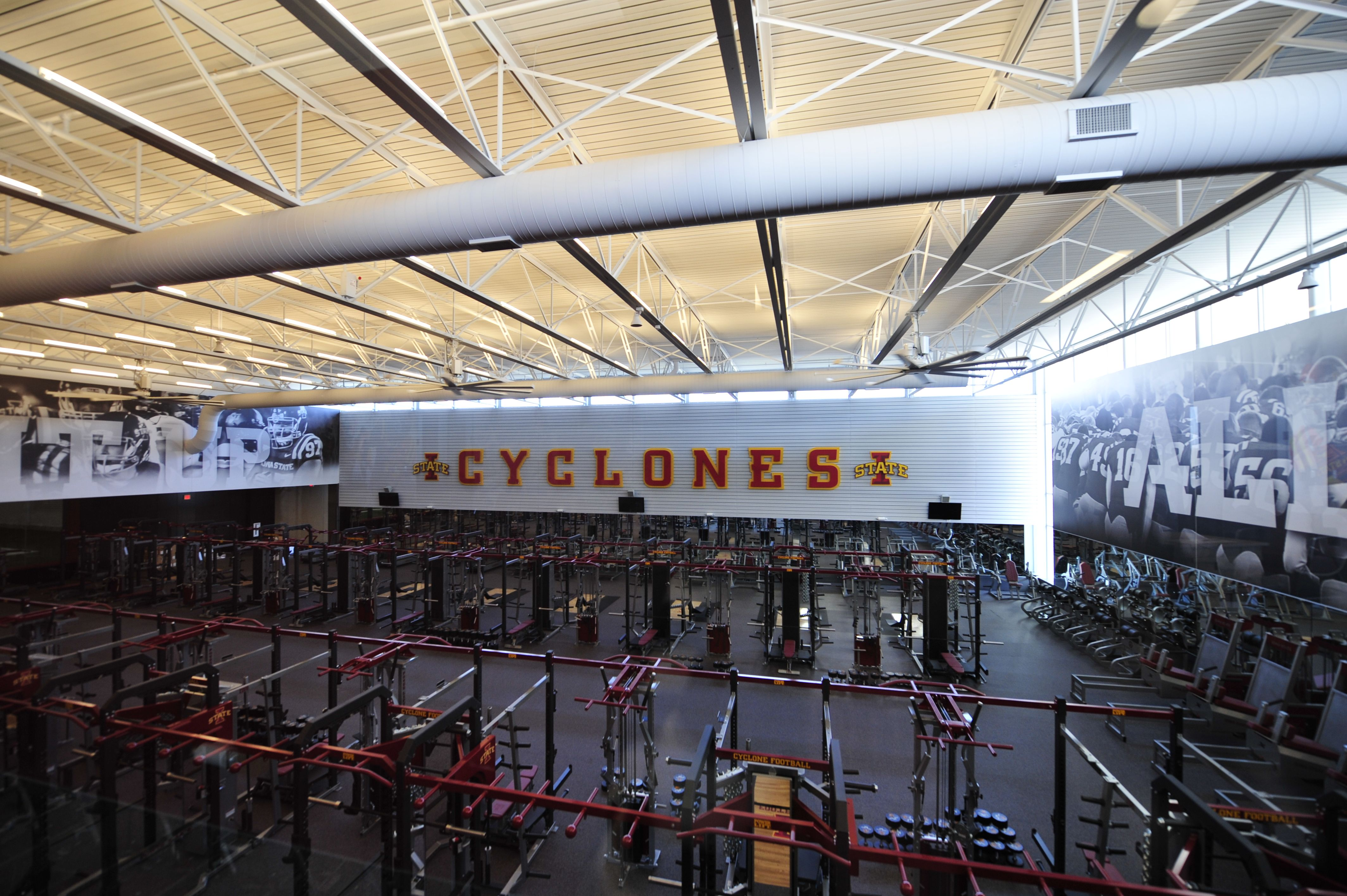 This One Of A Kind Weight Room Is Located In The Bergstrom Complex Cyclones Iowa State Favorite Places Locations
