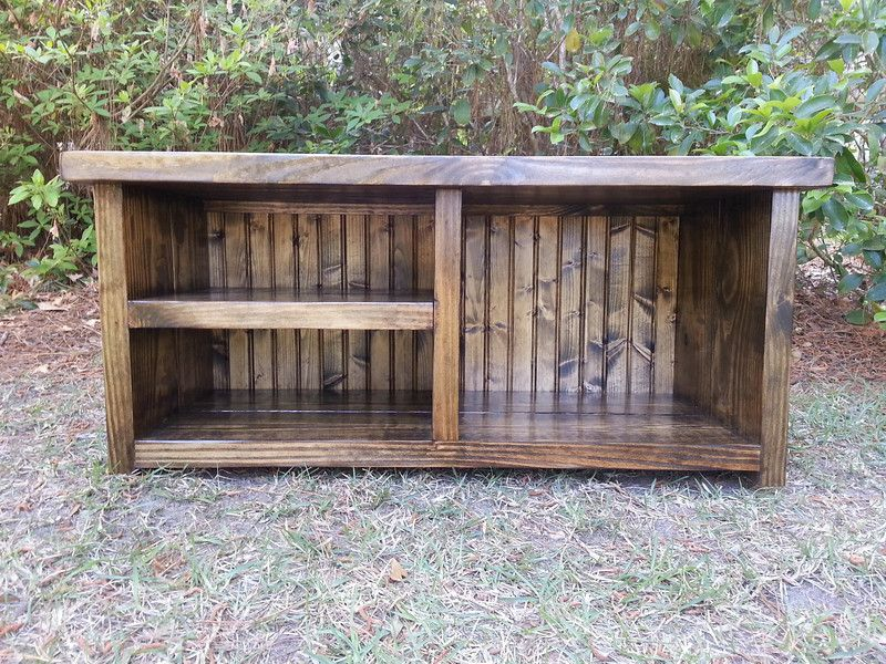 Farmhouse-Rustic-Shoe-Bench | home remodeling | Pinterest | Muebles ...