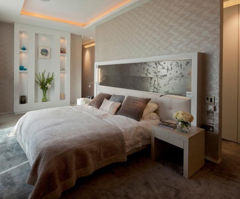 t te de lit et d co murale chambre en 55 id es originales tete de lit. Black Bedroom Furniture Sets. Home Design Ideas