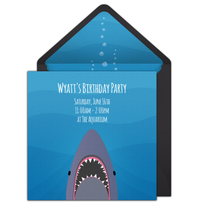Free Shark Invitations Shark Themed Birthday Parties And Party - Free shark birthday invitation template
