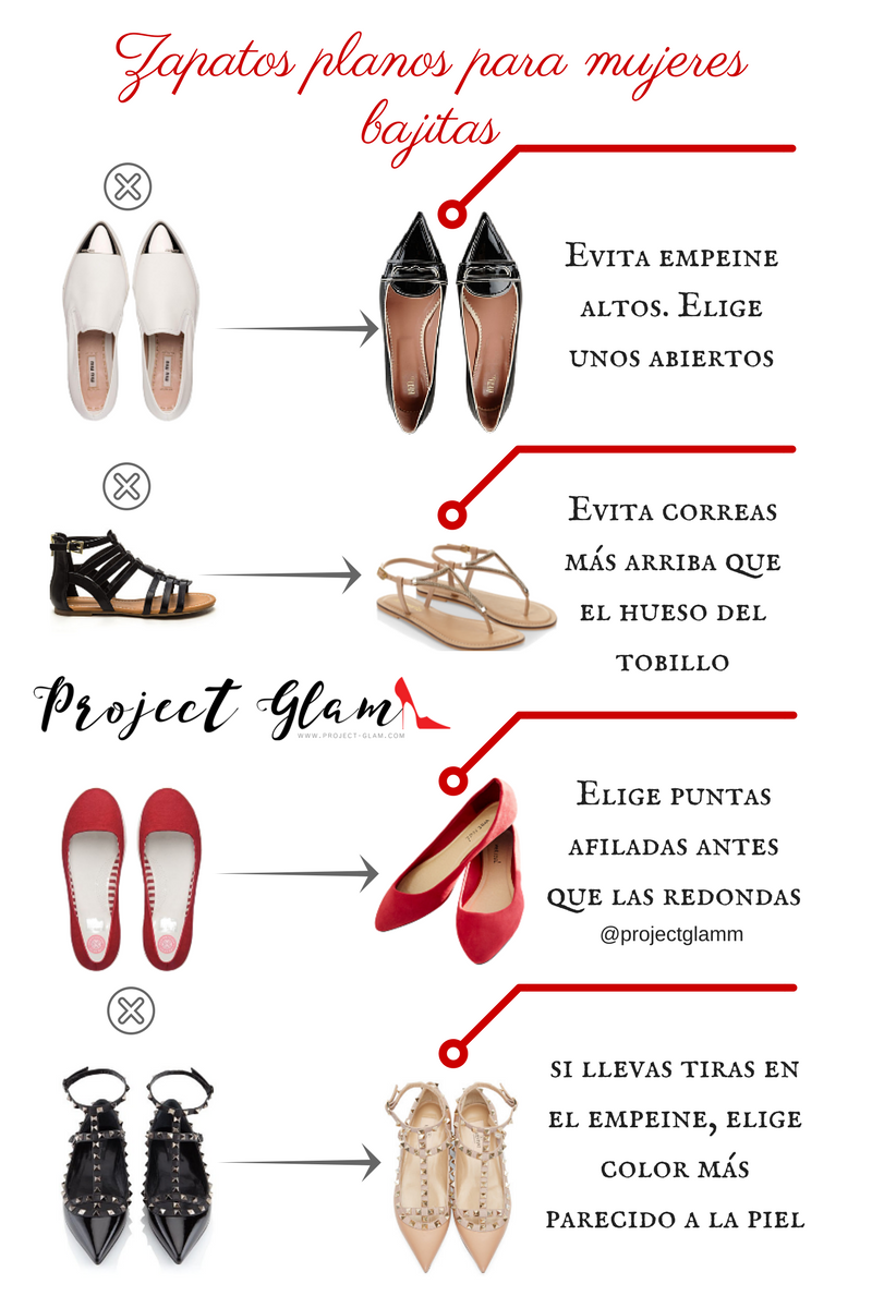 Zapatos sin tacón para mujeres de baja estatura — Project Glam
