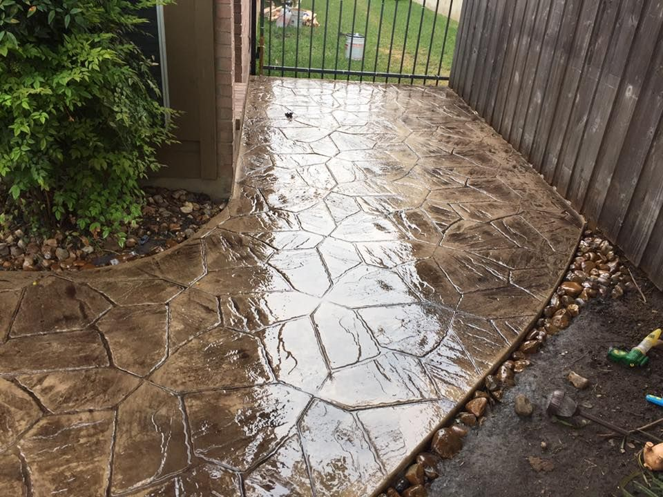 Concrete pathways are a beautiful and durable addition to ...