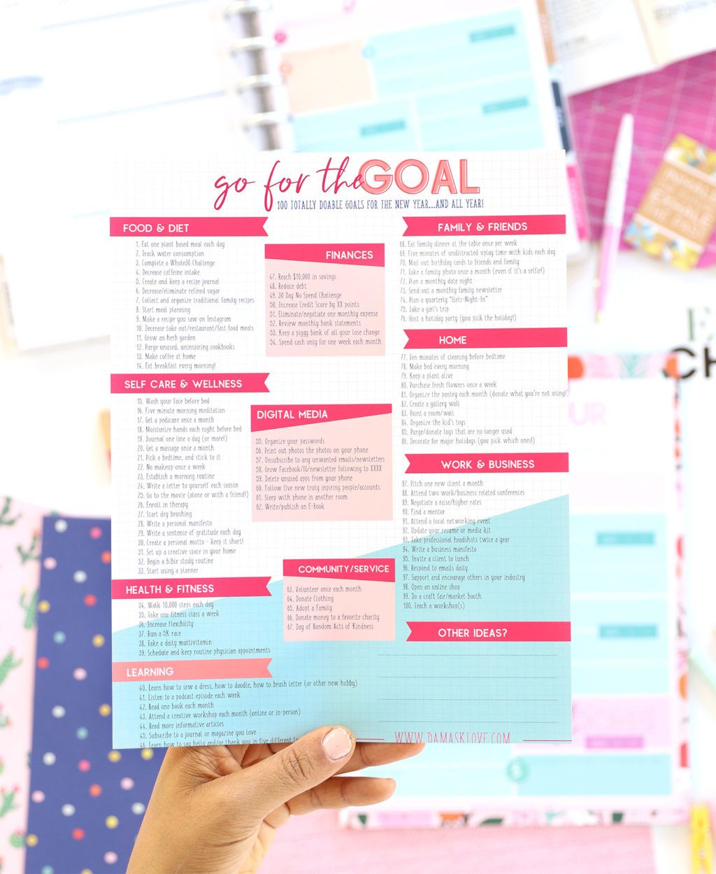 100 Doable Goals For The New Year