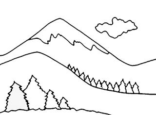 Gambar Mewarnai Gambar Gambar Mewarnai Pemandangan Pegunungan Untuk