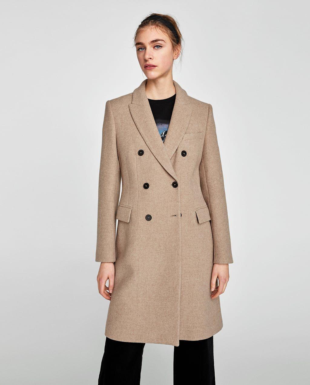 Bild 2 Von Zweireihiger Mantel Von Zara Mantel Zara Mantel Tuch
