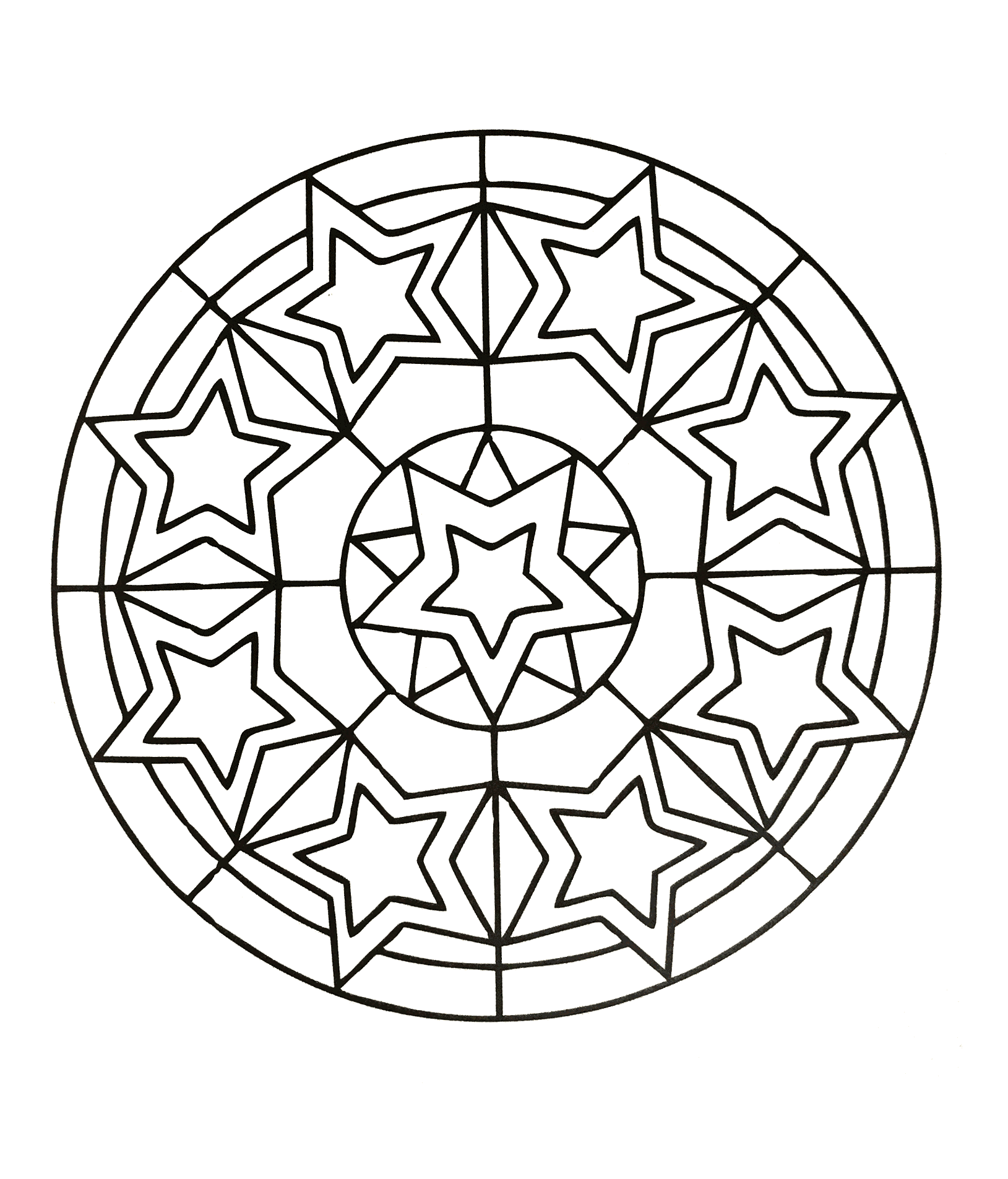 Jewish mandala coloring pages - Mandalas Online Coloring Pages Printable Coloring Book For Kids 72