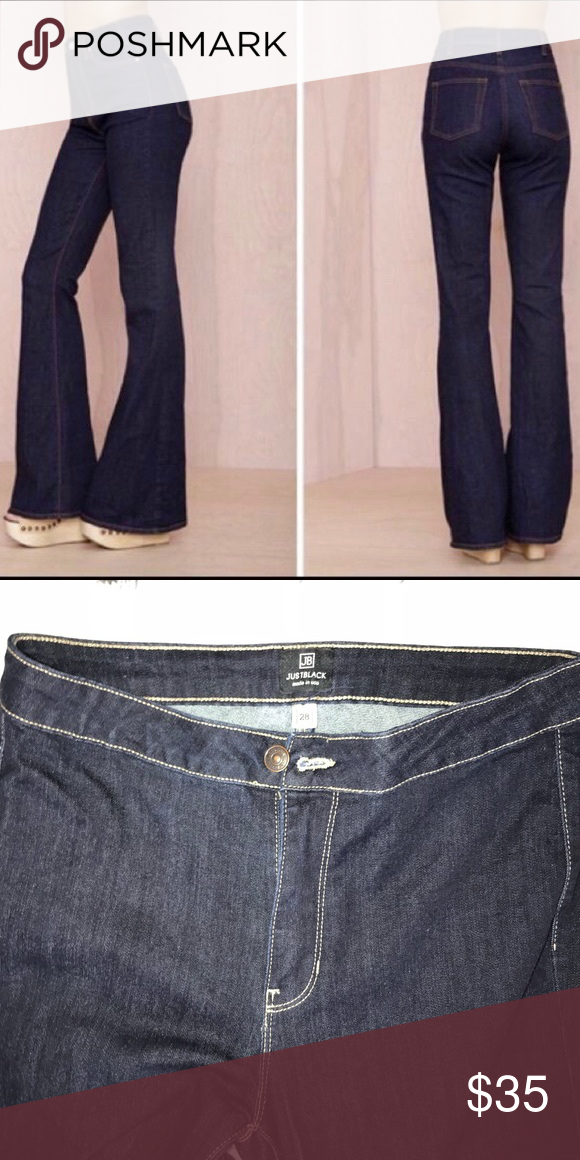 d74a6fc61b7b Just Black brand high waisted flare jeans Dark denim no distress! Like new  worn only once! Jeans Flare & Wide Leg