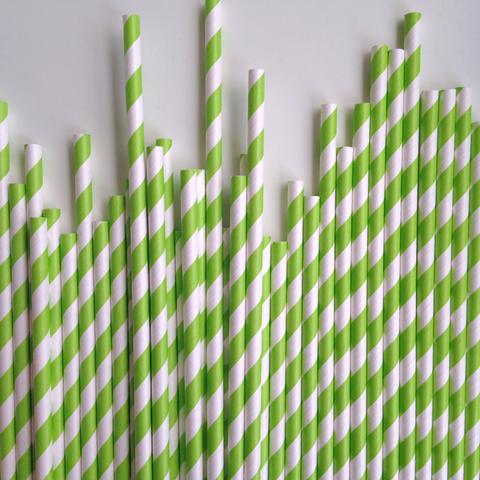 Green Stripe Paper Straws – The Sweet Hostess