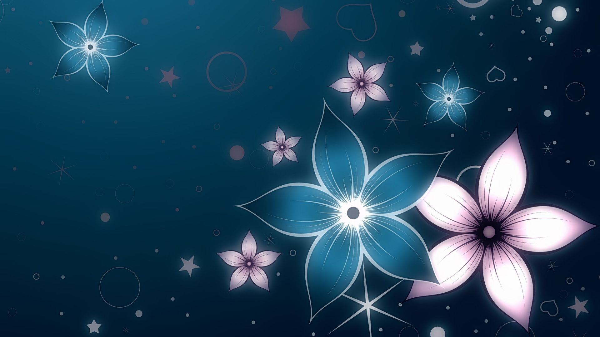 Light Blue Flower Abstract Wallpaper More information