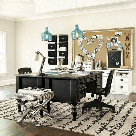 Charmant Home Office Ensemble 3 Drawer Desk/Hutch