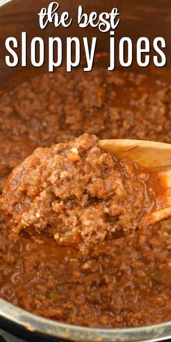 Easy, Homemade Instant Pot Sloppy Joes Recipe