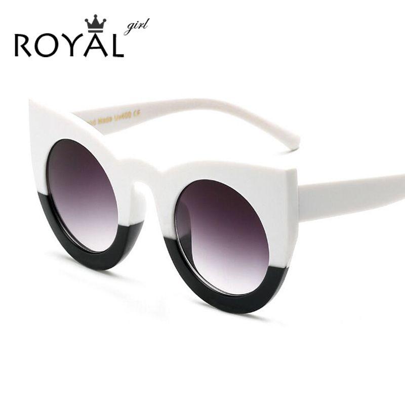 Royal girl frauen sonnenbrille großen rahmen spiegel gläser chunky ...