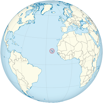 Cape Verde on the globe (Cape Verde centered).svg