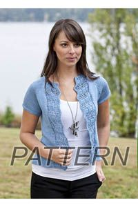 ea3878a51 Cascade Ultra Pima Summer Waves Cardi PATTERN ONLY (Yarn and Fiber -  Patterns) - Alpaca Direct