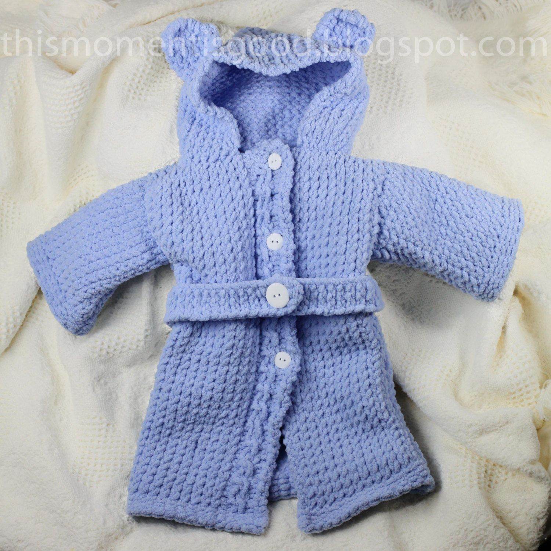 Loom Knit Baby Bathrobe PATTERN. Spa Quality and Teddy Bear Themed ...