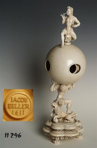 Ivory ball contrefait (height 30.5 cm). By Jacob Zeller, 1611 Courtesy of Staatliche Kunstsammlungen Dresden