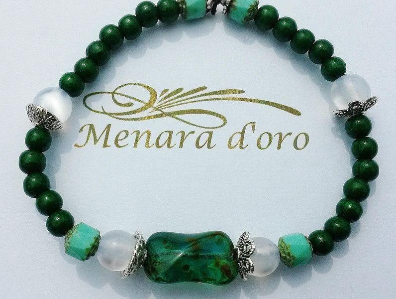 "Bohemian ""PICASSO GREEN"" - Armband by m'creation  von Menara d'oro auf DaWanda.com"