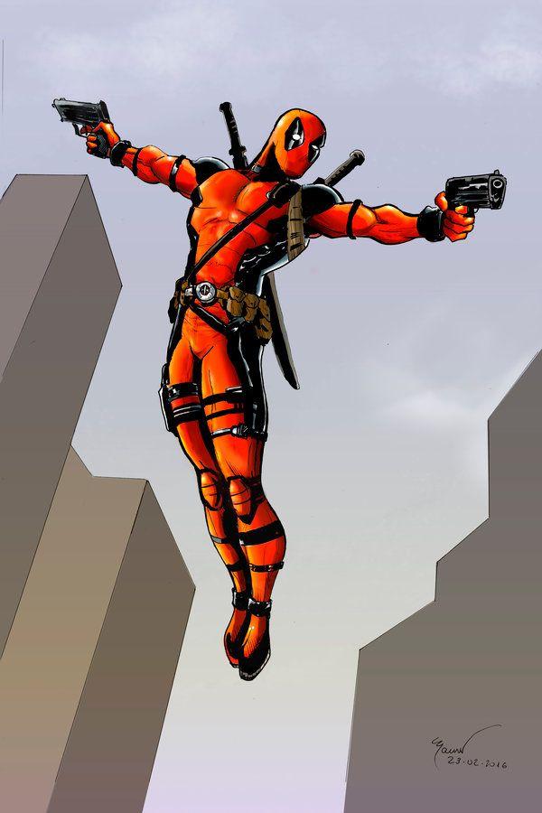 #Deadpool #Fan #Art. (Deadpool colors FINAL) By: Marcel815. (THE * 5 * STÅR * ÅWARD * OF: * AW YEAH, IT'S MAJOR ÅWESOMENESS!!!™) [THANK U 4 PINNING!!!<·><]<©>ÅÅÅ+(OB4E)