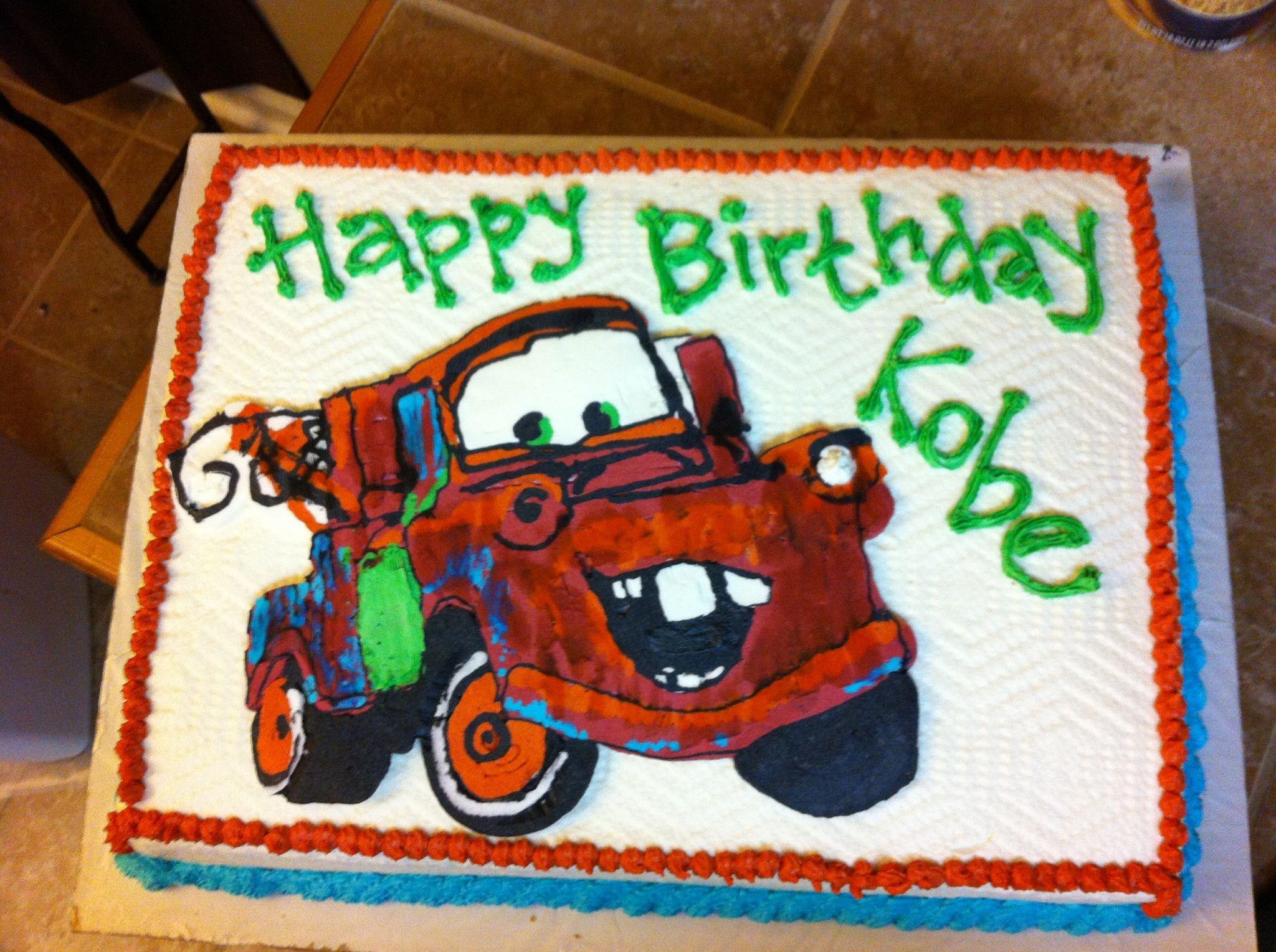 Fine Tow Mater Birthday Cake Birthday Cake Kids Boy Birthday Cake Funny Birthday Cards Online Benoljebrpdamsfinfo