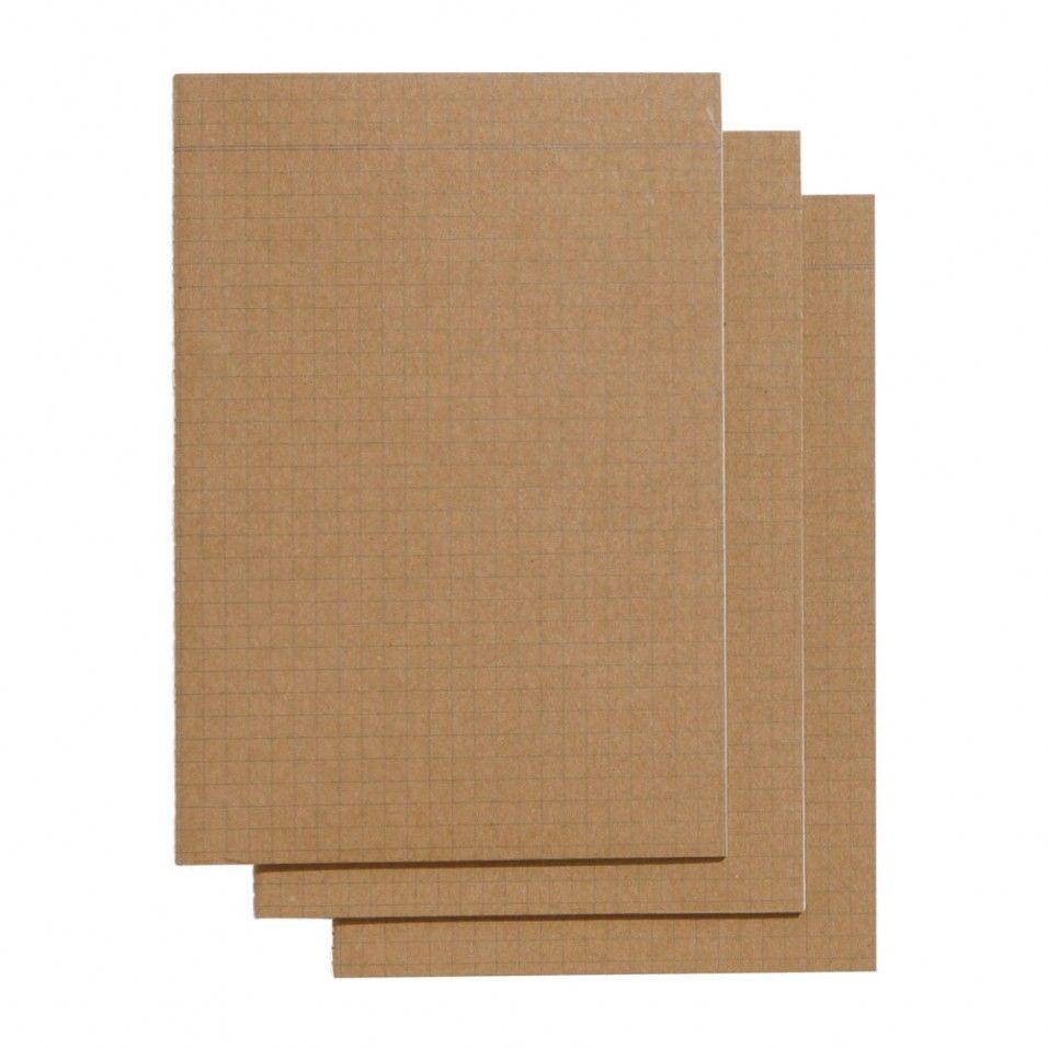 Kraft A5 Slim Grid Exercise Books - Pack Of 3