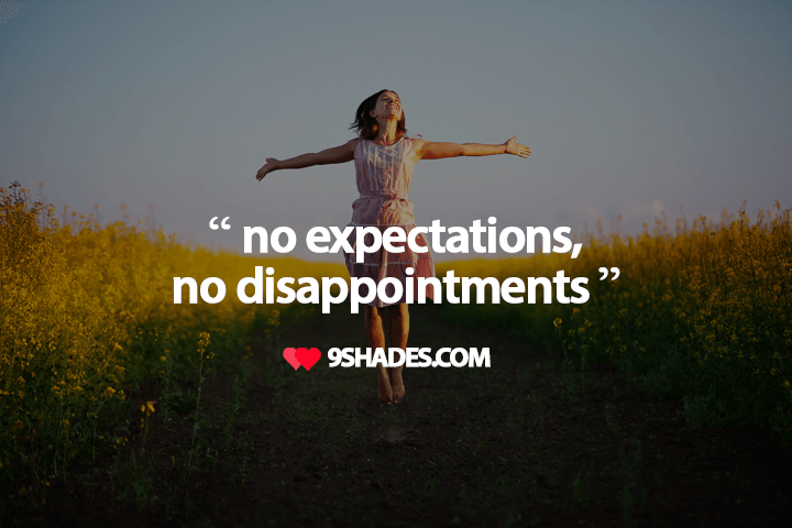 No Expectations No Disappointments Whatsapp Status Quotes