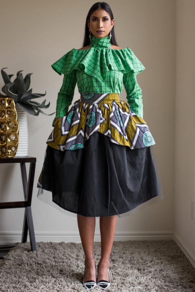 Maya Tulle Skirt (green) #kitengedesigns