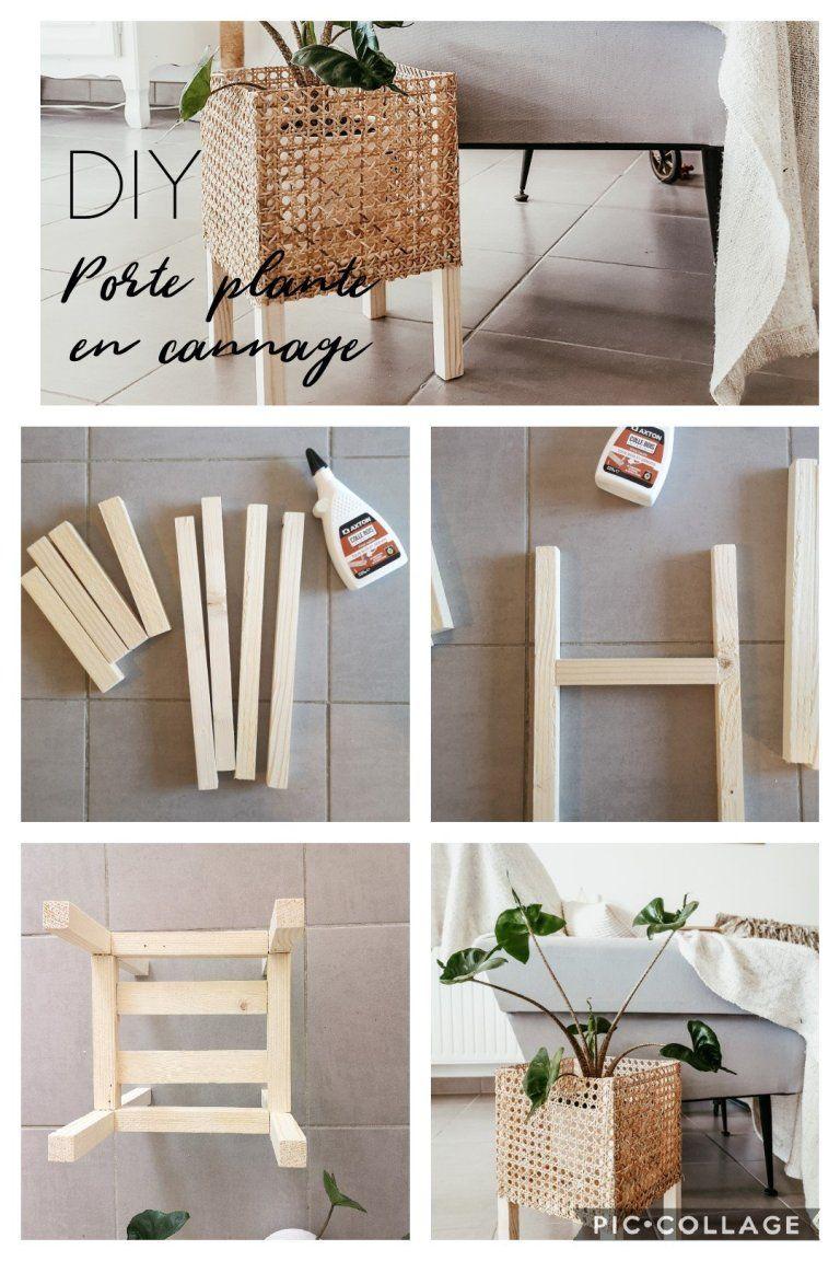 Photo of DIY : Un porte plante en cannage