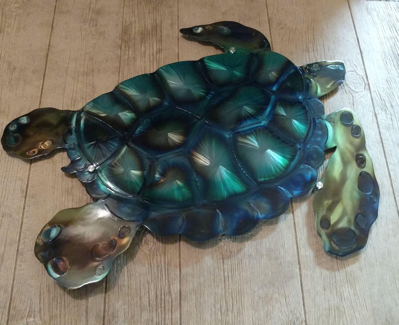 Metal Ocean Decor Turtle Etsy Handmade