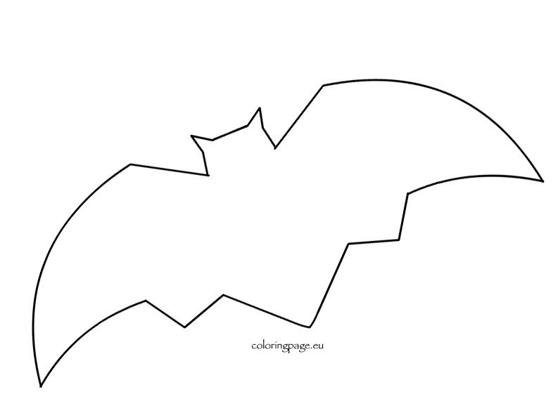 FreeBatTemplate  Preschool  Halloween    Bat Template