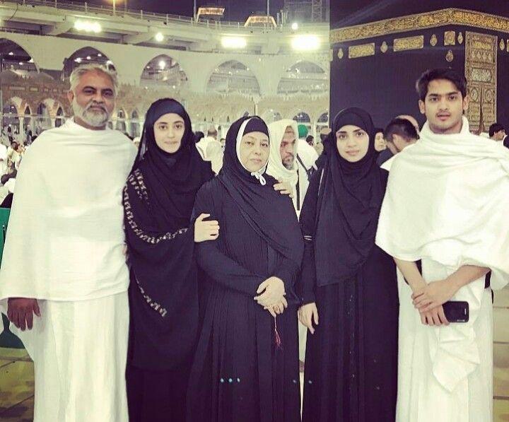 Family pic of Sajal Ali