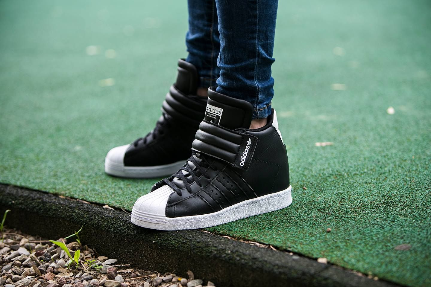 new style 77ba8 15cf6 ADIDAS SUPERSTAR UP STRAP PLATFORM WEDGES SHOES | ADIDAS ...