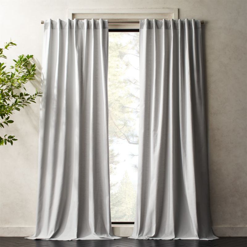 Silver Grey Basketweave Ii Curtain Panel Cb2 Panel Curtains Silver Grey Curtains White Paneling