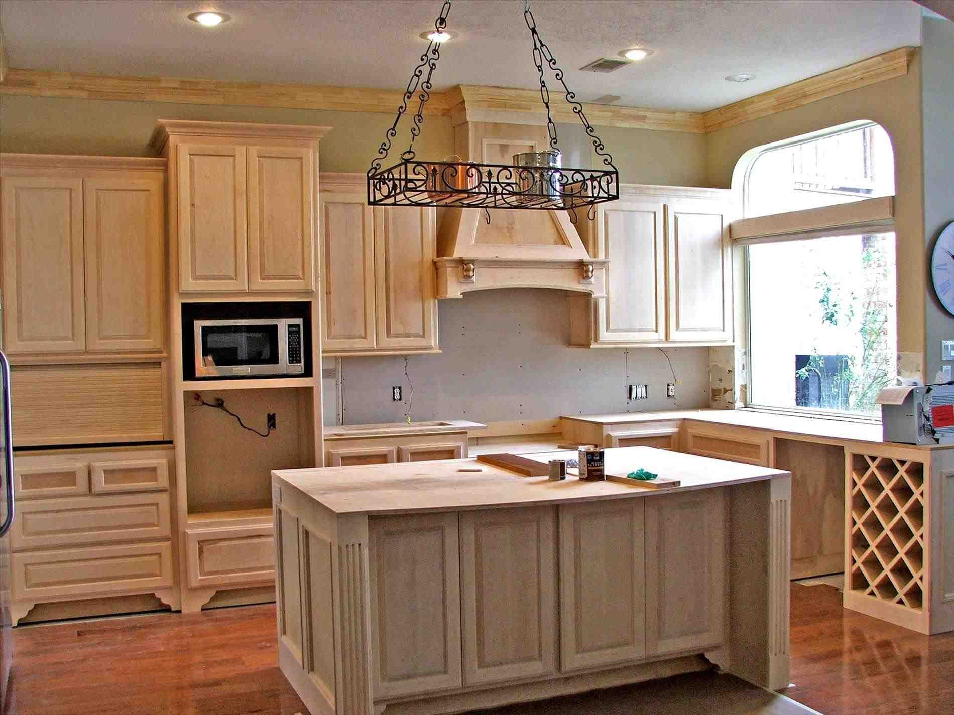 New Post Oak Kitchen Cabinets And Wall Color