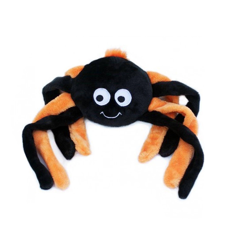 Zippypaws Halloween Grunterz Dog Toy Orange Spider Dog Toys