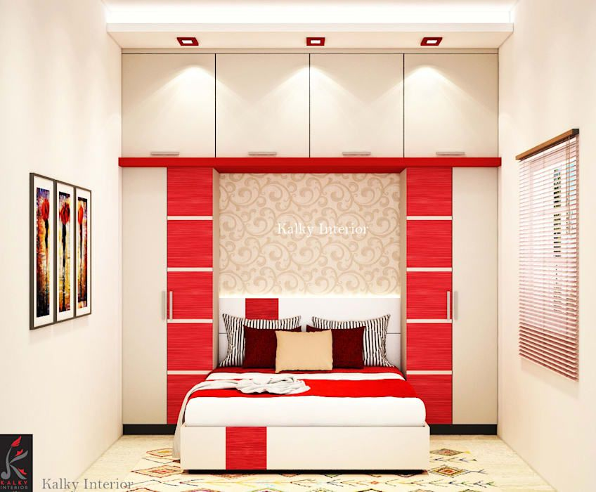 Guest Bedroom Minimalistic Bedroom By Kalky Interior Small Space Guest Bed Small Bedroom Designs Small Bedroom Small room interior design indian