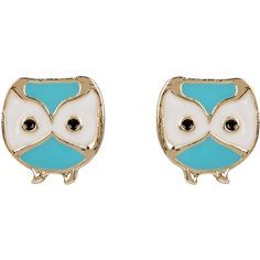 Accessorize Cute Owl Stud Earrings found on Polyvore...