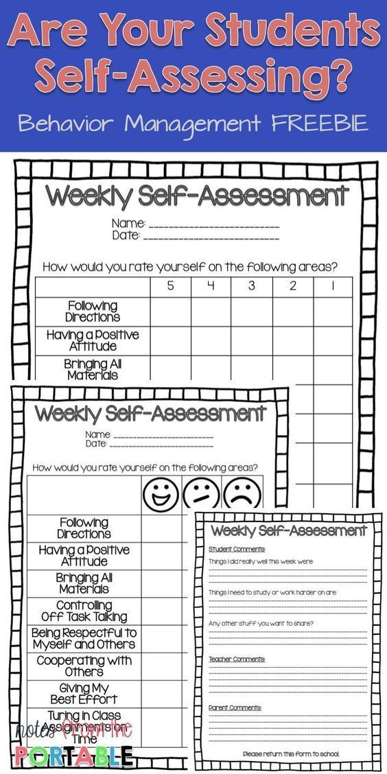 The #1 Way to Improve Student Behavior! - Let Them Self-Assess
