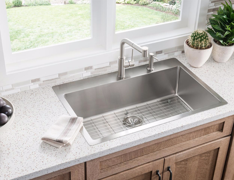 Elkay Crosstown Stainless Steel 33 Single Bowl Dual Mount Sink