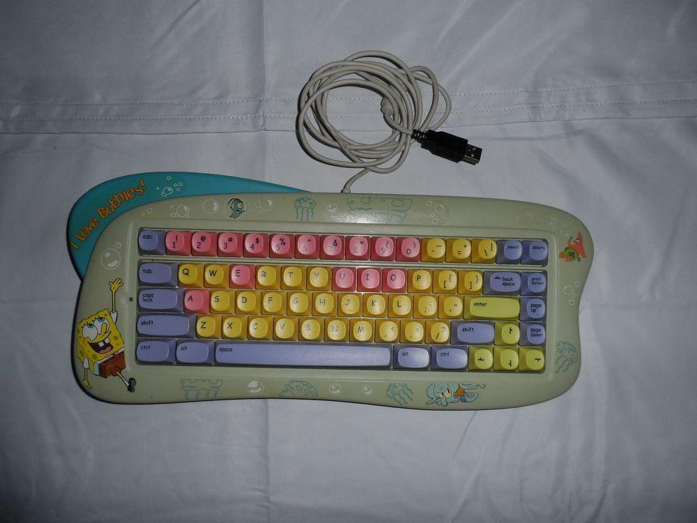 Spongebob Squarepants Computer Keyboard Patrick Plankton Squidward
