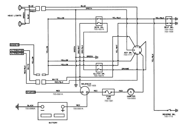 huskee tractor wiring diagram