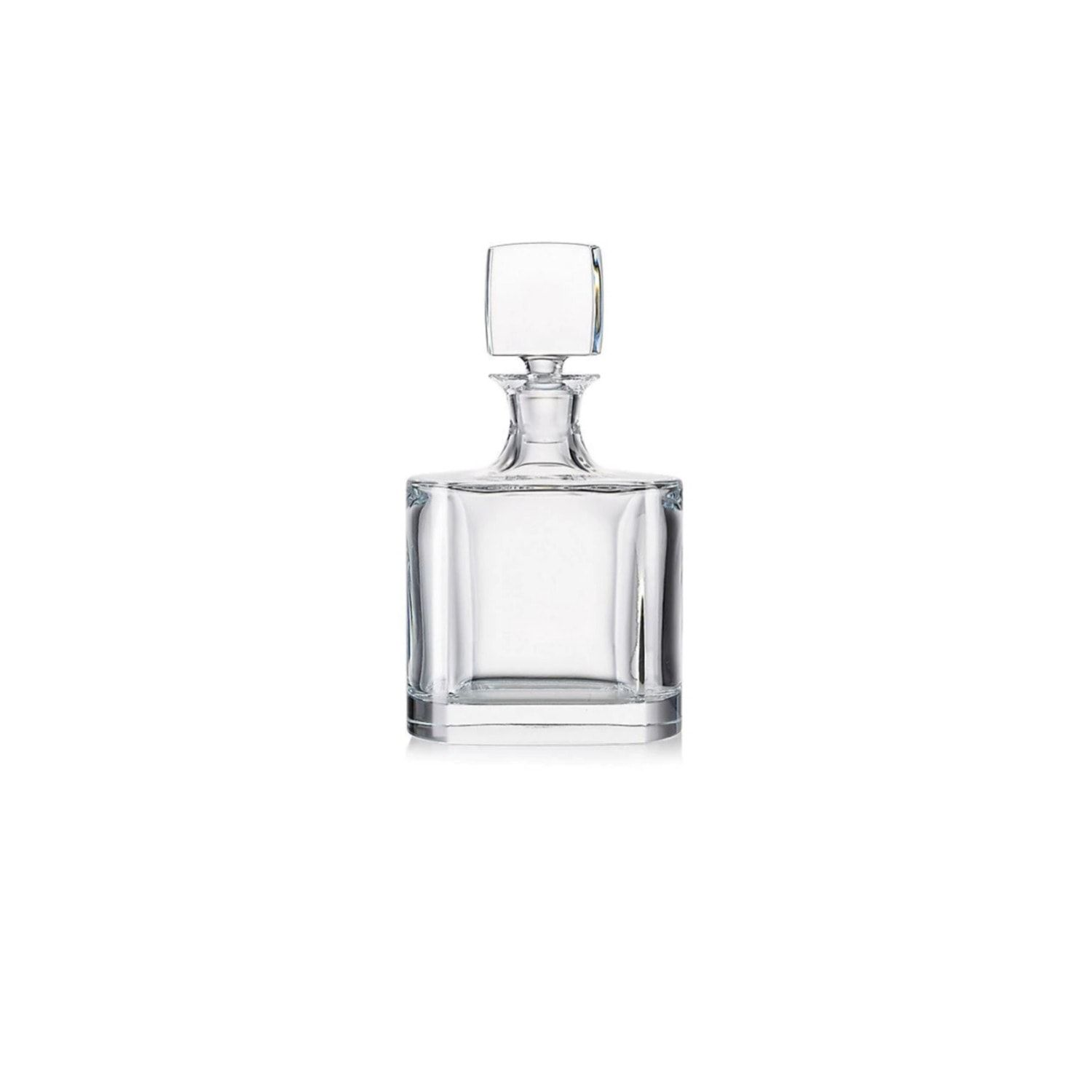 This whisky decanter and tumbler set from the Manhatan collection is a classic, timeless design. Each piece is beautifully crafted and pefect for home entertaining. Boasting a classic curvy shape and weighty base in rich crystal, this exquisite piece serves your guests in utmost style. Wash by Hand.